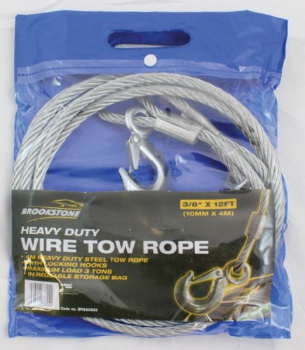 Brookstone Touring Wire Tow Rope - (3/8IN X 12 FT)